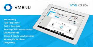 download free vertical menu responsive html template free html