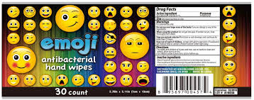 emoji antibacterial hand wipes solution bolero home decor inc