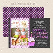 1st birthday twin party invitations u2013 lil u0027 sprout greetings