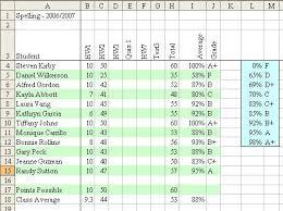 Grade Book Template Excel Excel To Track Grades