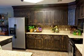 Kitchen With Brown Cabinets Furniture Inspiring Kitchen Cabinet Refacing For Lovely Kitchen