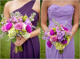 mismatched purple and lavender bridesmaid dress ideas bride link