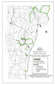 State Of Vermont Map map of fiber owned by the department of public service public