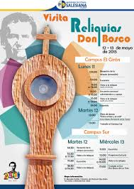 inscripciones 2015 san juan bosco reliquias de don bosco visitan la sede quito ups