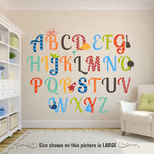 alphabet boys nursery abcs wall decals reusable learning set zoom