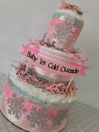 baby it u0027s cold outside baby shower diaper cake centerpiece