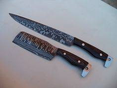 handmade damascus steel sharp kitchen knives set of 3 chef knives