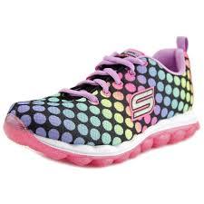 skechers skech air dotty daze black multi kids girls sneakers size