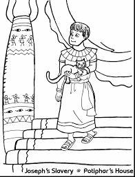 fabulous joseph and potiphar coloring page with joseph coloring