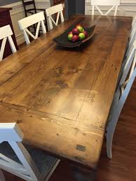 reclaimed wood dining table with a 2