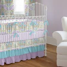 pink and gray primrose crib bedding carousel designs