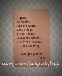 seventh anniversary gifts copper wallet card insert 7th anniversary by simplyyoursbydesign