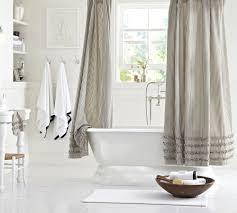 Blue Ruffle Shower Curtain Blue Ruffled Shower Curtains Colorful Curtain Ideas