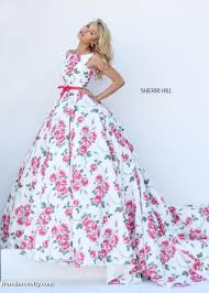 sherri hill 50484 floral print prom gown french novelty