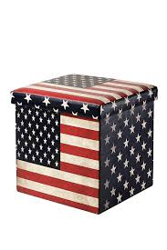 Storage Cubes Ottoman by Amazon Com Faux Folding Wooden Leather Storage Cube Ottoman