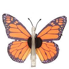 butterfly hair clip orange glitter ombre butterfly hair clip s