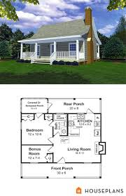cottage house plans tiny floor home with guest best images on