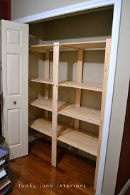 Diy Build Shelves In Closet by How To Build An Easy Clothes Closet From A 50 Kit Funky Junk