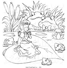 royalty free stock frog designs of coloring book pages