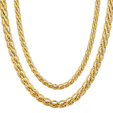 gold man chain necklace images Vintage 45 55 66 76cm gold color necklace fashion mens gold chain jpg