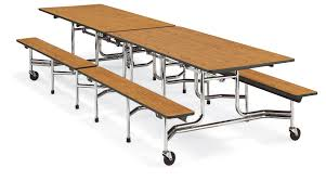 L Bench Virco Mtb Series Bench Cafeteria Table