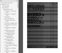 hitachi ex550 5 ex550lc 5 ex600h 5 ex600lch 5 parts catalogs
