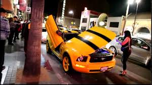 transformers ford mustang mustang transformer yellow