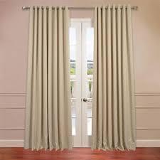 Double Wide Grommet Curtain Panels Signature Ivory Double Wide Velvet Blackout Pole Pocket Single