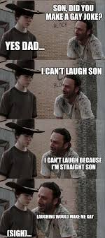 Gay Joke Memes - rick and carl long meme imgflip