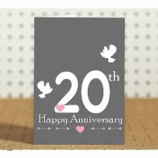20th wedding anniversary anniversary cards wedding anniversary cards for and