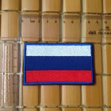 Country Flags Patches Russia Country Flag Ru Russian Flag Army 3d Embroidered Hook Patch