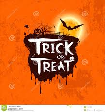 halloween trick or treat message stock photos image 34267993