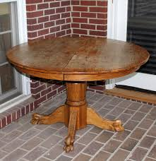 round oak claw foot dining room table ebth