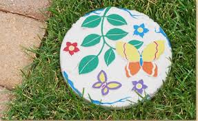 butterfly garden stepping stone craft project ideas