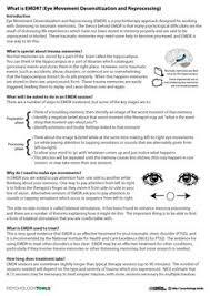 eye movement desensitization reprocessing emdr worksheets