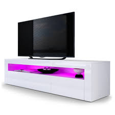 tv stand unit valencia carcass in white matt front in white