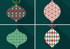 retro patterned christmas ornament vectors download free vector