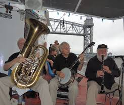 bourbon street paraders on hy line u0027s cape cod canal jazz boat