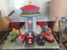 paw patrol lookout cake boy u0027s 4th birthday cake ideas