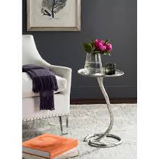 Aluminum Accent Table Safavieh Mina Silver Side Table Fox3246b The Home Depot