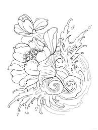 tattoo coloring pages flower coloringstar