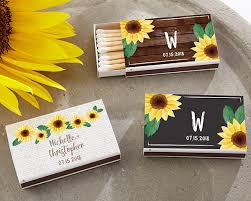 wedding favor matches personalized sunflower white matchboxes set of 50 my wedding