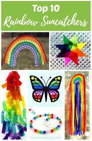 top 10 rainbow suncatchers kids craft ideas rhythms of play