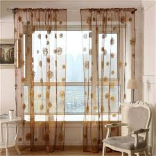 new stylish sunflower curtains window screens door balcony curtain