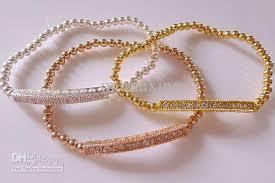 rose gold bead bracelet images 2018 gold silver rose gold beaded tube bar connector bracelet jpg
