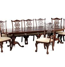 broyhill dining table and eight chippendale style chairs ebth