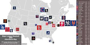 Chicago White Sox Map by Baseball U003epaid Attendance Billsportsmaps Com