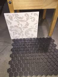 small hexagon floor tiles need to buy i have the damask wall