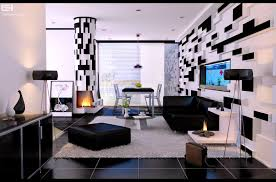 apartments inspiring black and white modern living room design