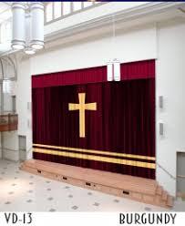 Burgundy Velvet Curtains Chapel Sanctuary Velvet Curtains